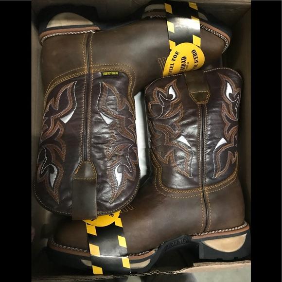 Buffalo Bull Steel Toe Work Boots Size